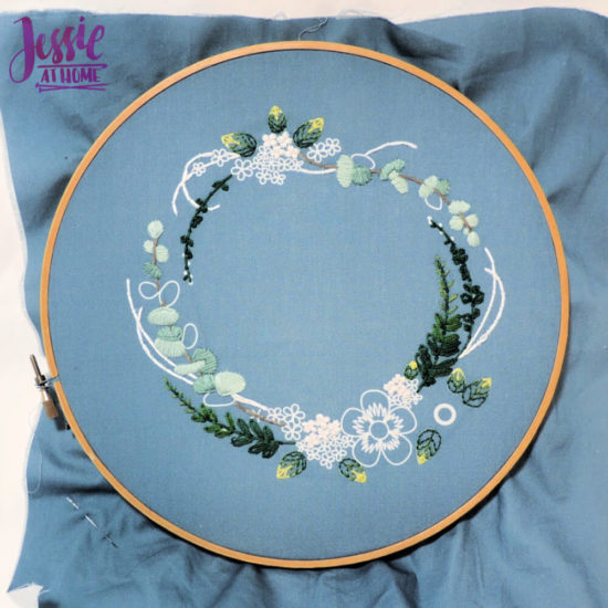 Mini Maker Embroidery Kits review and tips from Jessie At Home - Wreath in Progress
