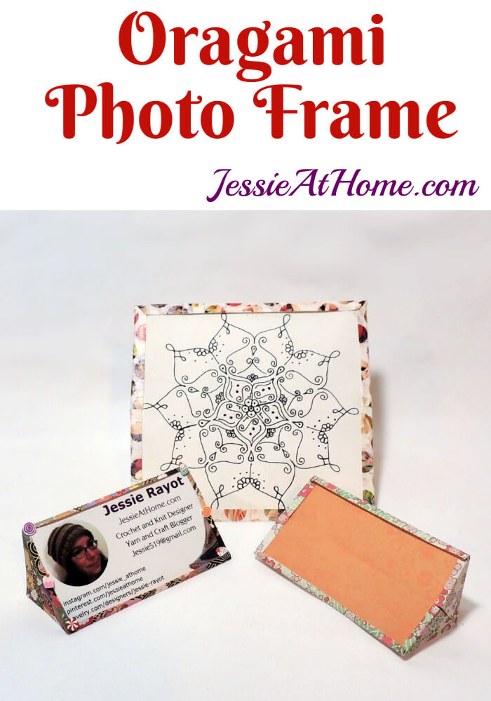 Origami Photo Frame - origami tutorial by Jessie At Home