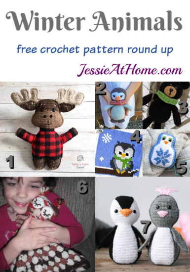Winter Animals to crochet - free crochet pattern round up from Jessie At Home