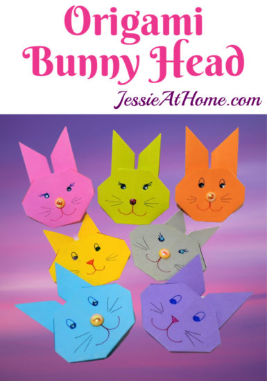 Bunny Head Origami Tutorial by Jessie At Home