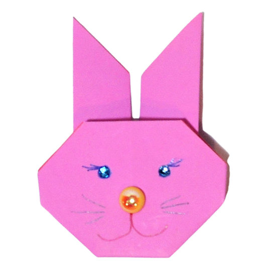 Paper Bobble Head Bunny Craft for Kids | 550x550