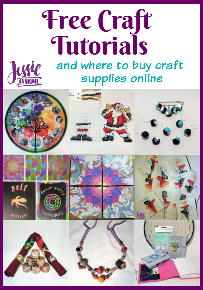 Free Craft Tutorials and where to buy craft supplies online, plus a mystery giveaway!