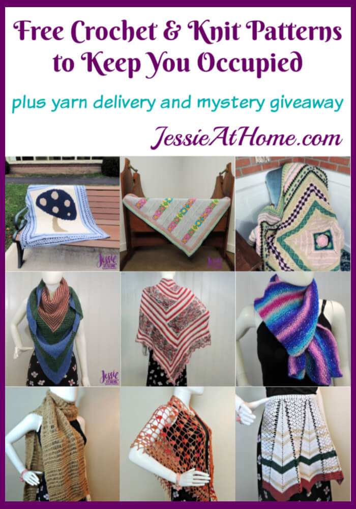 Free Crochet & Knit Patterns and Yarn Delivery to Keep You Occupied by Jessie At Home