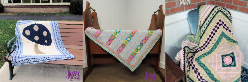 Free crochet blanket patterns by Jessie At Home