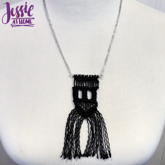 Get Started in Macrame book review and project from Jessie At Home - my necklace all done