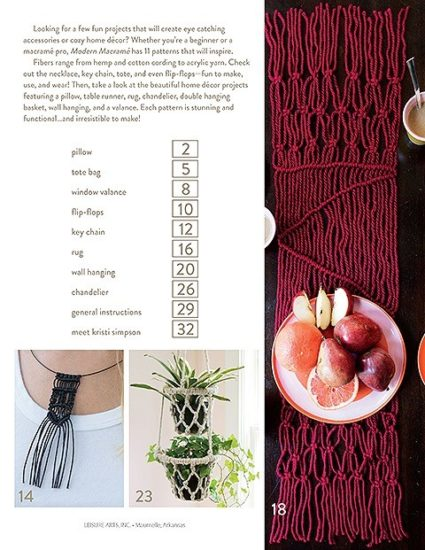 Get Started in Macrame book review and project from Jessie At Home - table of contents