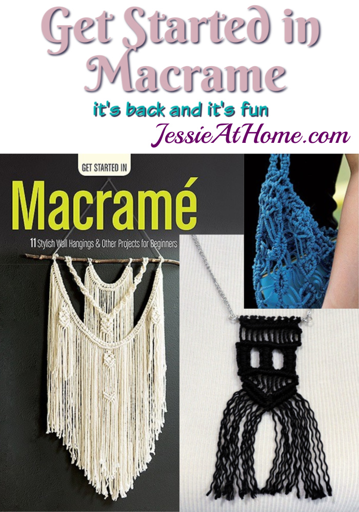 Get Started in Macrame book review and project from Jessie At Home