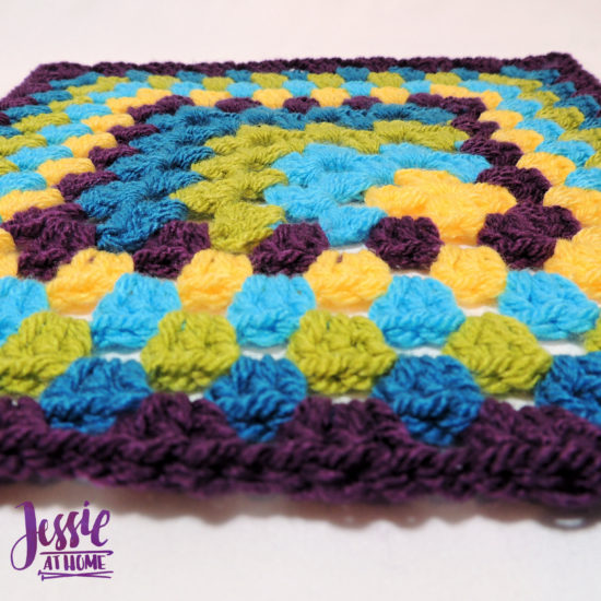Off Set Granny Square with thin or thick border- crochet pattern by Jessie At Home - 5