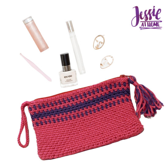 Pretty in Pink Clutch free crochet pattern by Jessie At Home - 3