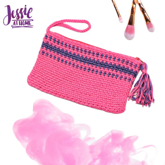 Pretty in Pink Clutch free crochet pattern by Jessie At Home - 4
