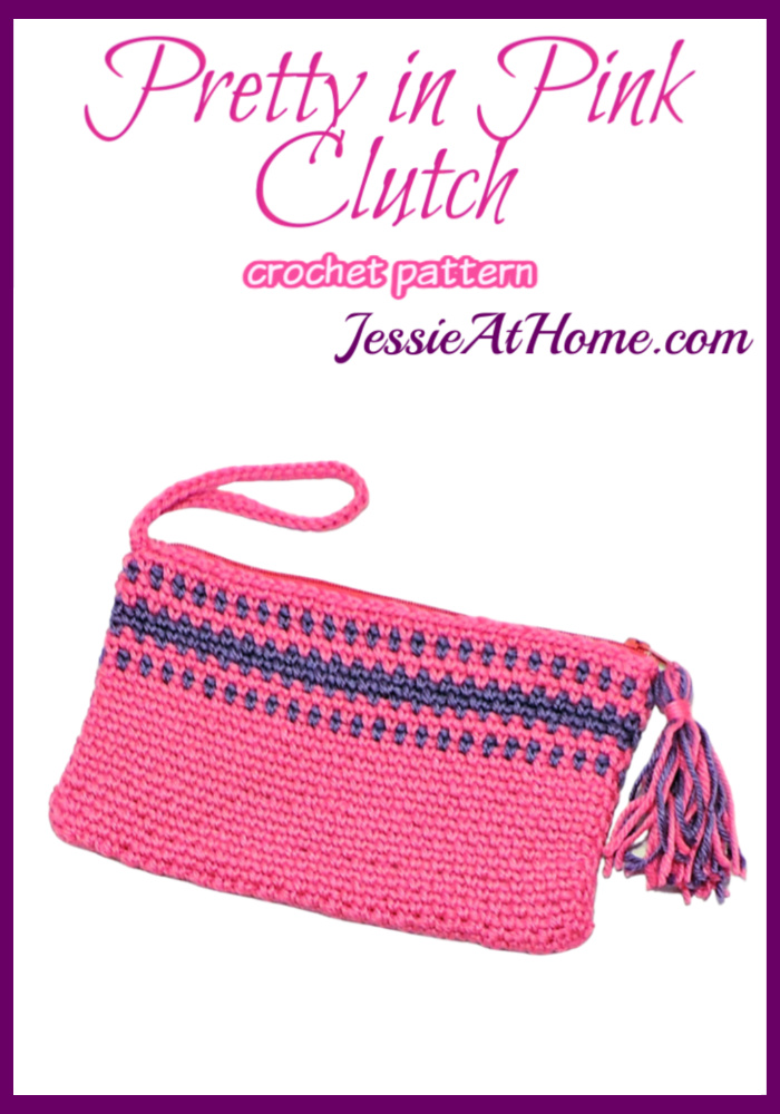 Pretty in Pink Clutch free crochet pattern by Jessie At Home