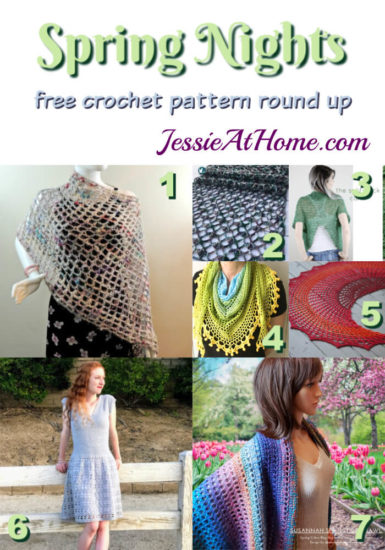 Spring Nights Crochet free crochet pattern round up from Jessie At Home