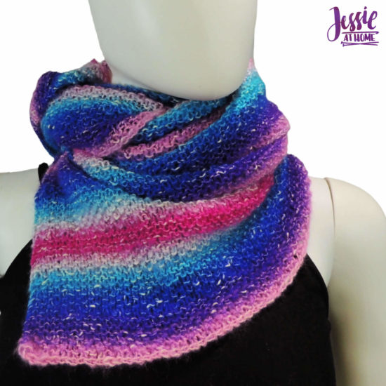 Striped Cake Scarf knit pattern by Jessie At Home - 3