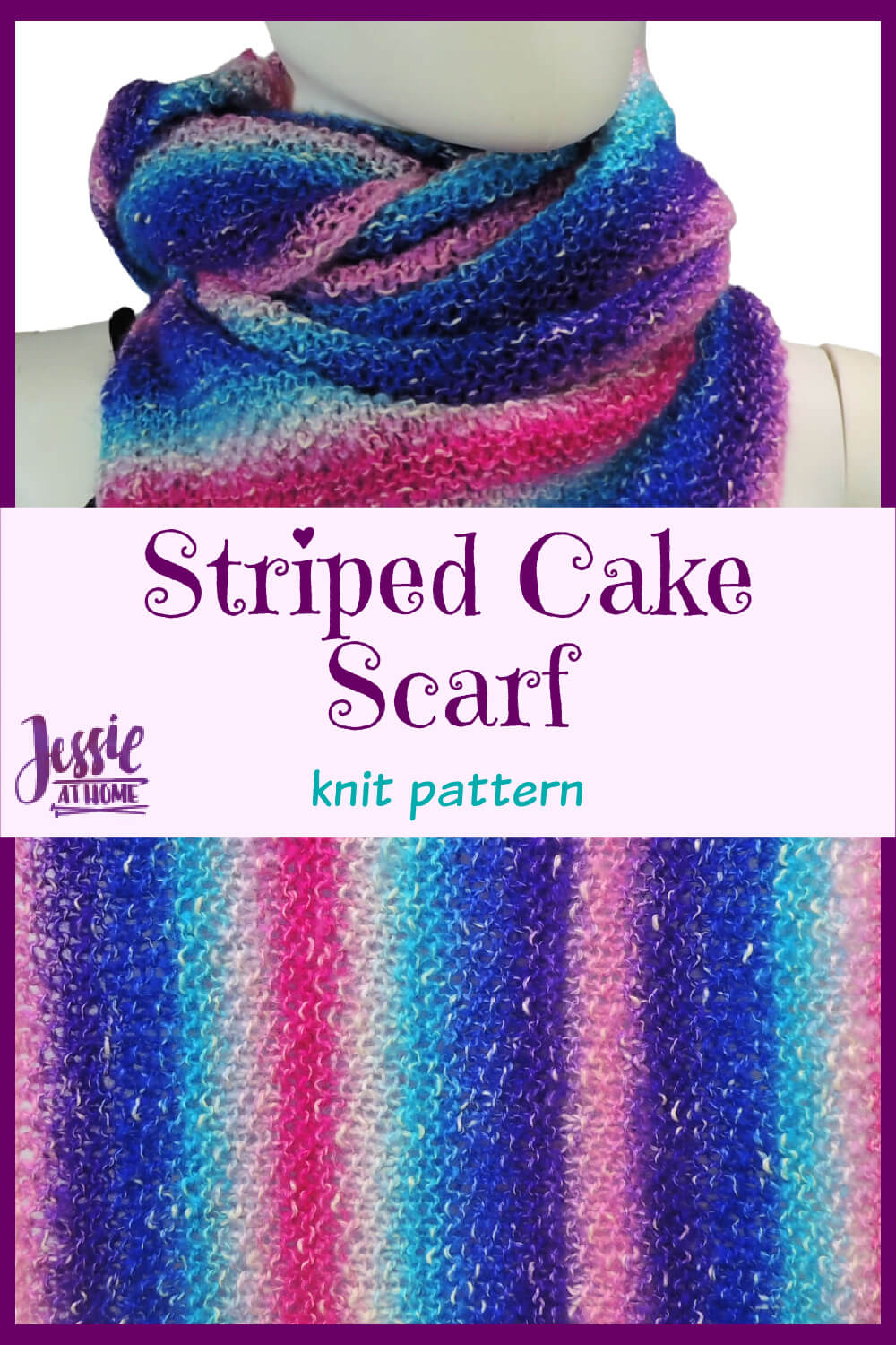 Striped Cake Scarf - a colorful, quick and easy knit!