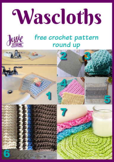 Washcloth Crochet Collection free crochet pattern round up from Jessie At Home - Pin 1