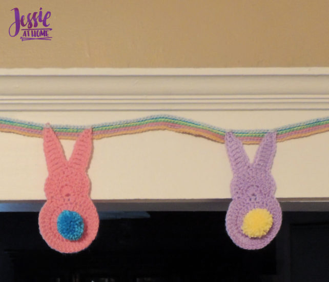 Bunny Booty Bunting crochet pattern by Jessie At Home - 2