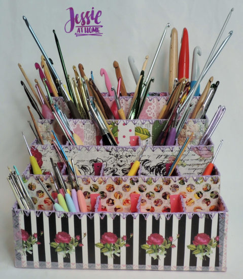 Crochet Hook Organizer - Cricut tutorial by Jessie At Home - Full Front