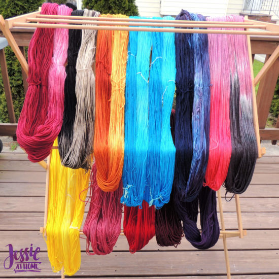 Dyeing Yarn with Jessie At Home - Protein Yarn and Acid Dye - Jaquard Acid Dye and Food Coloring Dye Yarns Hanked