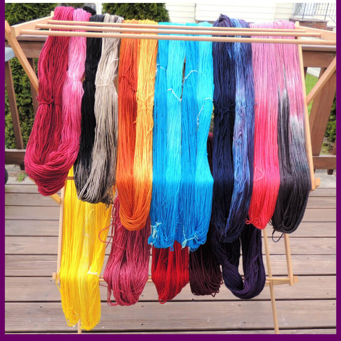 Dyeing Yarn with Jessie At Home - Protein Yarn and Acid Dye - Pin 1