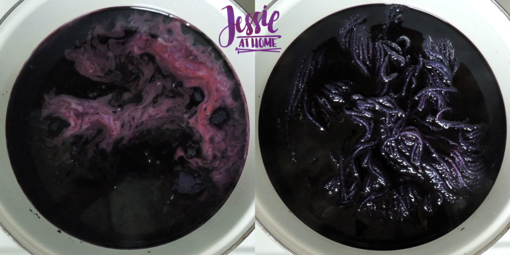 Dyeing Yarn with Jessie At Home - Protein Yarn and Acid Dye - Wool of the Andes - Solid Purple - Dyeing