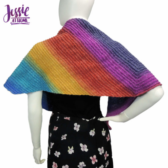 Extended Triangle Wrap knit pattern by Jessie At Home - 3