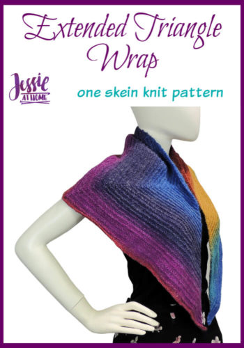Extended Triangle Wrap knit pattern by Jessie At Home - Pin 1