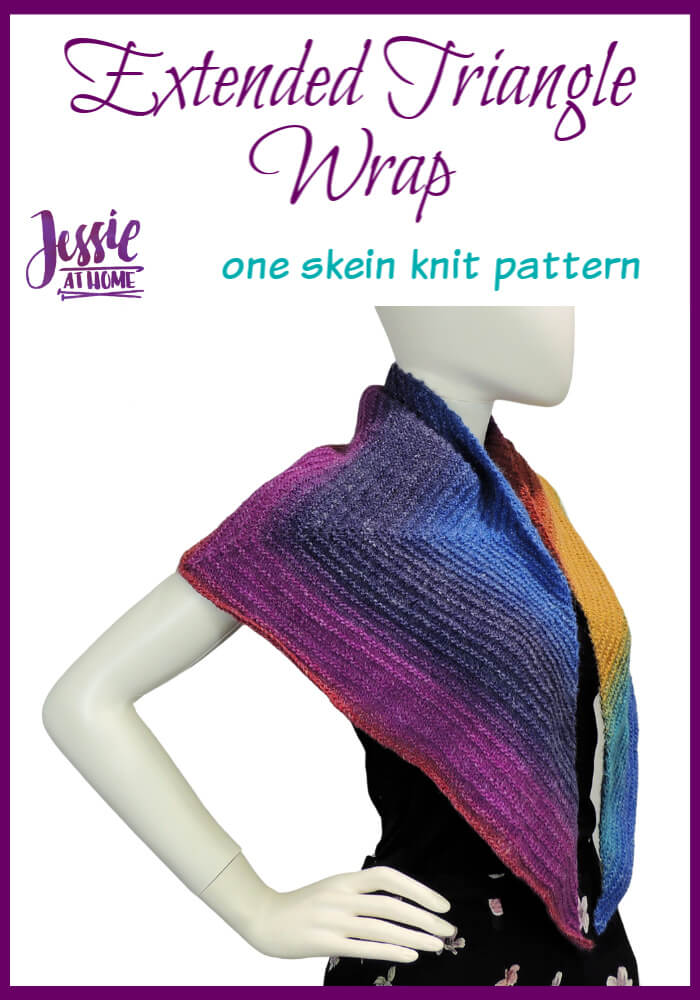 Extended Triangle Wrap – Knit with one skein of fabulous yarn!