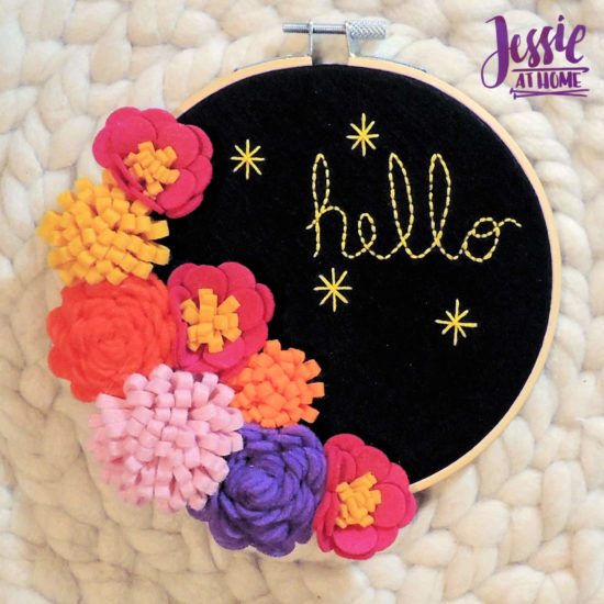 Felt Flower Wreath and other felt crafts - Jessie At Home - Done