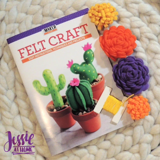 Felt Flower Wreath and other felt crafts - Jessie At Home - Extra