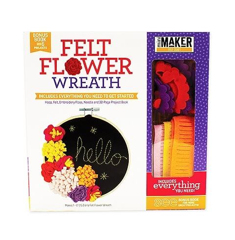Felt Flower Wreath and other felt crafts - Jessie At Home - Kit and Book