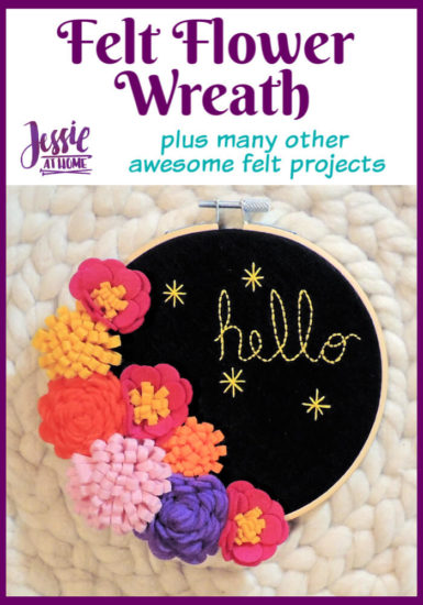 Felt Flower Wreath and other felt crafts - Jessie At Home - Pin 1