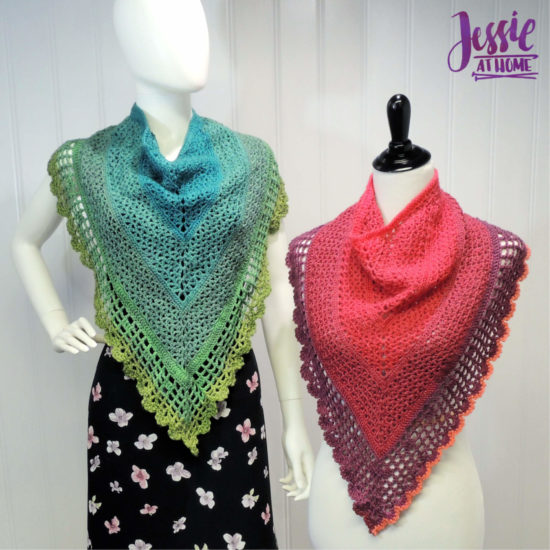 Juliette Shawl continuous shawl crochet pattern by Jessie At Home - 3