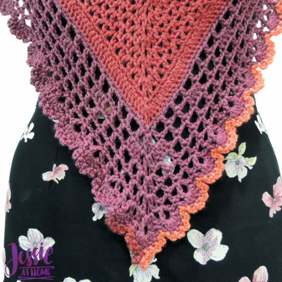 Juliette Shawl continuous shawl crochet pattern by Jessie At Home - 6