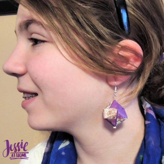 Oragami Modular Cube Tutorial by Jessie At Home - Earrings