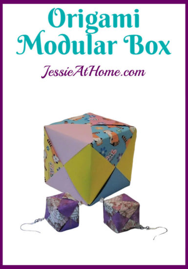 Oragami Modular Cube Tutorial by Jessie At Home - Pin 1