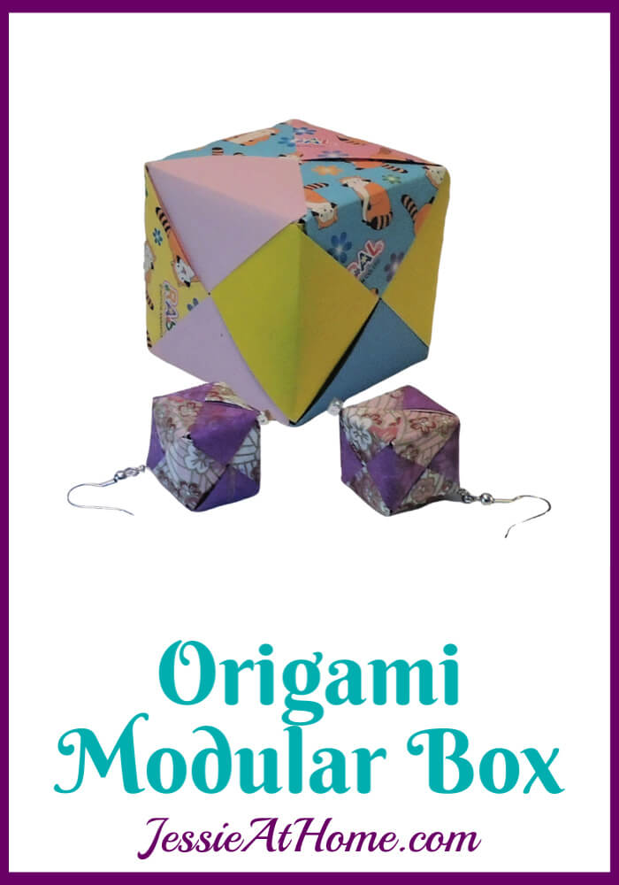Origami Modular Cube - written, pictorial & video tutorial