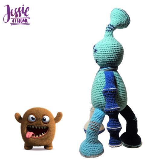 Tripet amigurumi monster crochet pattern by Jessie At Home - 2