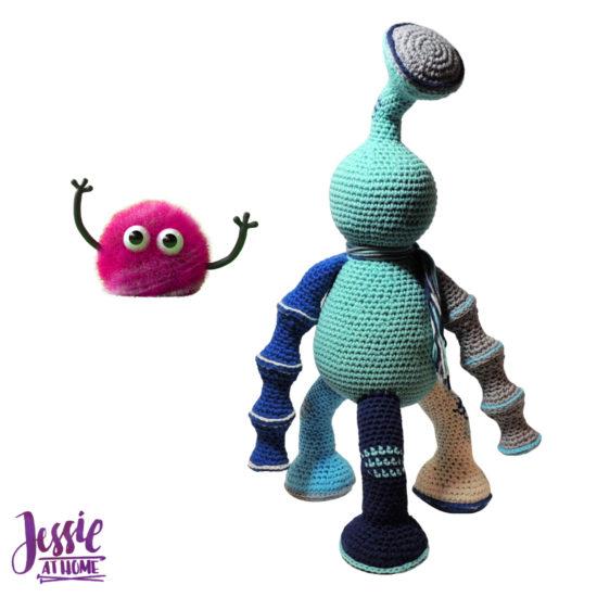 Tripet amigurumi monster crochet pattern by Jessie At Home - 3