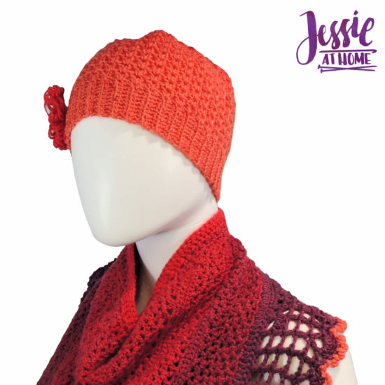 Cap-ulet - a crochet cap (beanie) for Juliette by Jessie At Home - 3