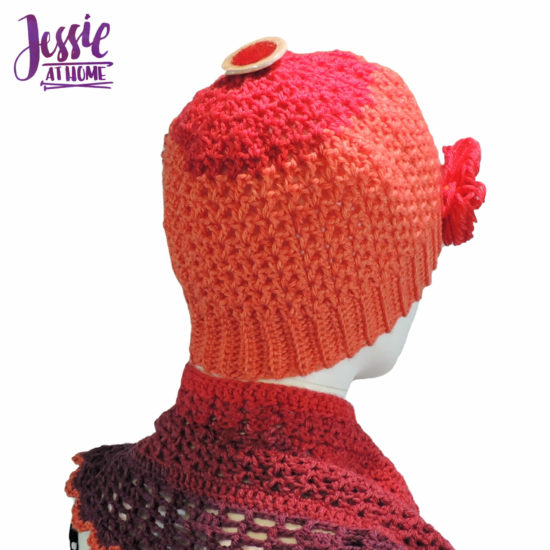 Cap-ulet - a crochet cap (beanie) for Juliette by Jessie At Home - 6