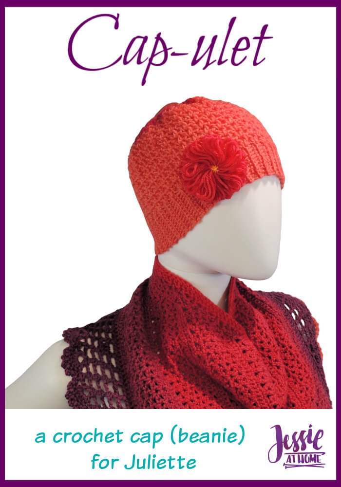 Cap-ulet – a cap (beanie) to go with your Juliette shawl