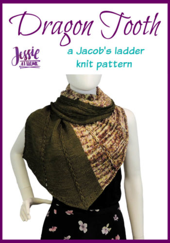 Dragon Tooth Wrap free knit pattern by Jessie At Home - Pin 1