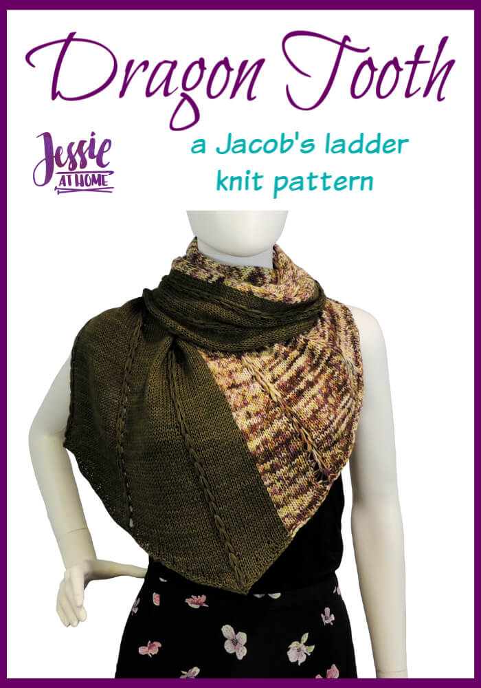 Dragon Tooth Wrap - a Jacob\'s ladder knit pattern