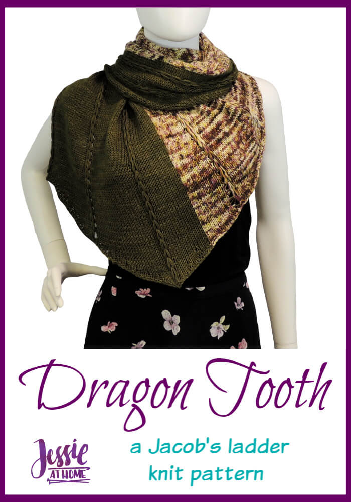 Dragon Tooth Wrap – a Jacob's ladder knit pattern
