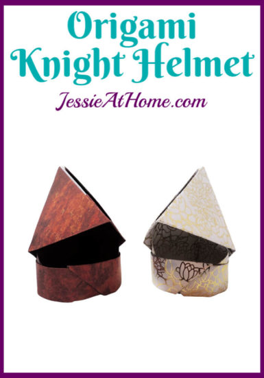 Origami Knight Helmet Tutorial by Jessie At Home - Pin 1