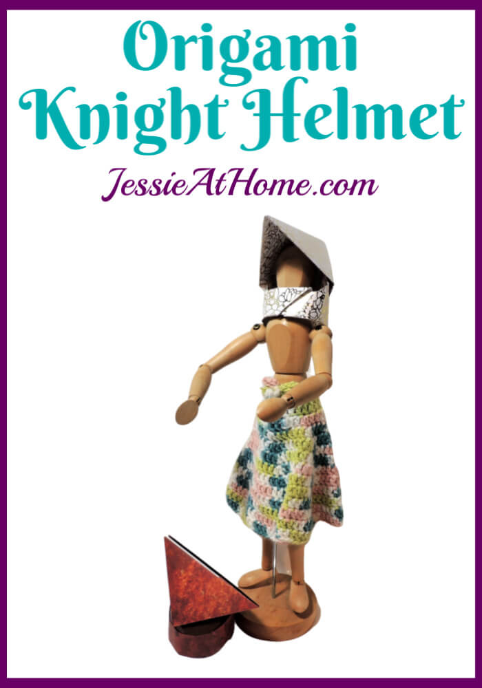 Origami Knight Helmet Pattern – written and pictorial tutorial
