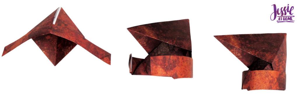 Origami Knight Helmet Tutorial by Jessie At Home - Step 10