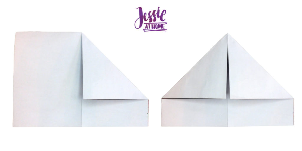 Origami Knight Helmet Tutorial by Jessie At Home - Step 3