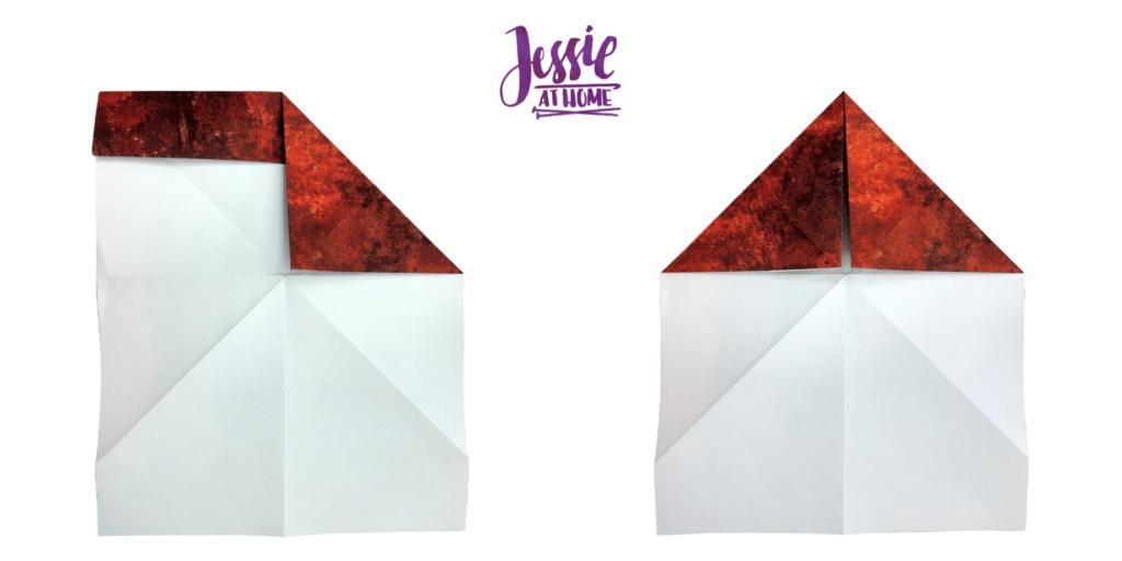 Origami Knight Helmet Tutorial by Jessie At Home - Step 6