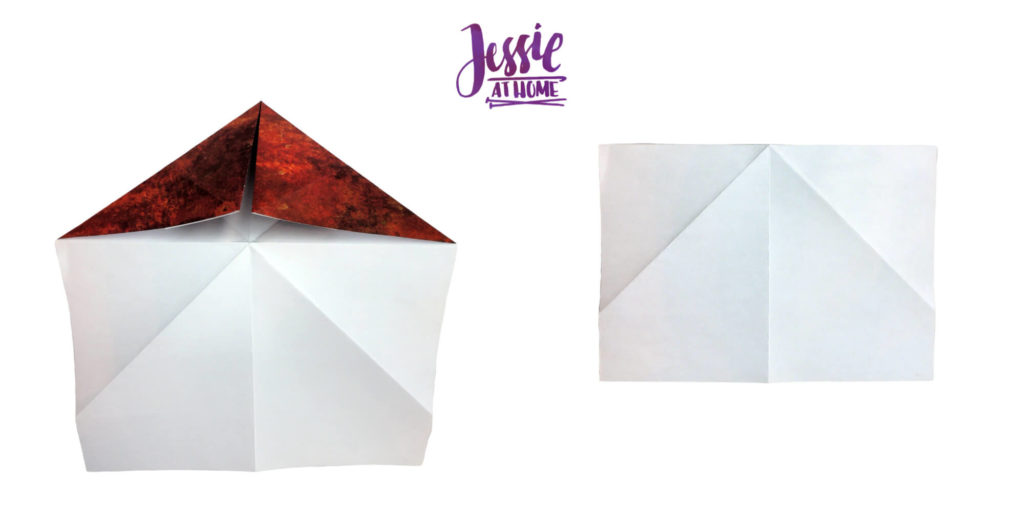 Origami Knight Helmet Tutorial by Jessie At Home - Step 7